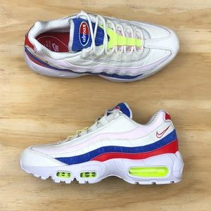 buy popular 411a8 21fba Nike Shoes - Nike Air Max 95 SE Panache Pink Blue Red Shoes